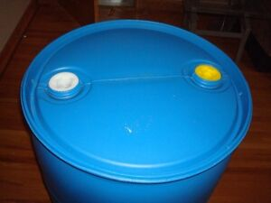 Spring Sale - 55 Gallon Blue Rain Barrels With New Spigots
