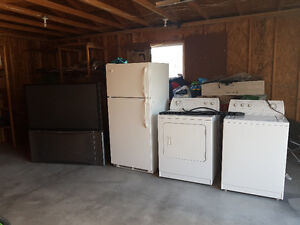 3 appliances and one TV