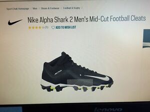Football cleats - size 8 - Nike mid cut, great condition