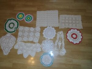 NEW Crocheted Doilies - reduced