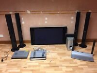 Plasma tv surround sound and DVD player (Panasonic)