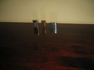 3 Briquets Silver Match Flaminaire Tapisserie Sim Luxe
