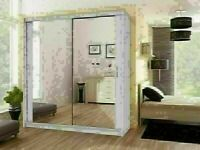 🔵💖🔴GOOD QUALITY 🔵💖🔴Berlin 2 Door Sliding Mirror Wardrobe -- Cheapest Price -- Same Day