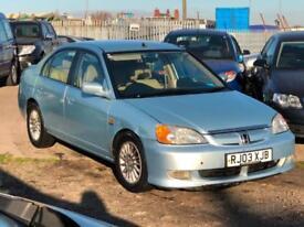 2003/03 Honda Civic 1.3 SE Executive IMA LONG MOT EXCELLENT RUNNER FULL MOT