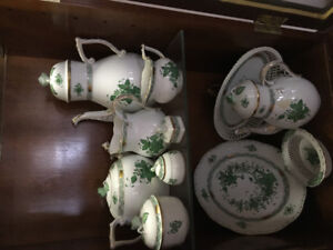 Herend China Bouquet Green pieces