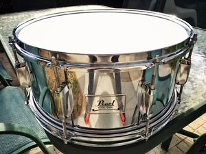 Snare-Caisse Claire Pearl Steel Shell