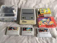 Super Nintendo SNES with 6 games