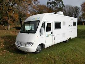 Pilote Explorateur G713 LG A Class 4 berth Motorhome fixed rear bed garage