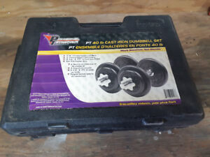 2 boxes of dumbell weights