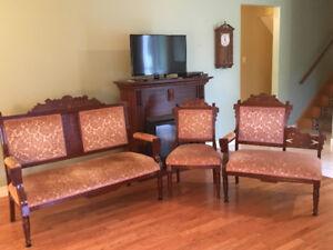 Antique 3-Piece Living Room Set
