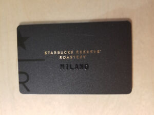 Starbucks card Milano - 1st Starbucks in Italy - card from Italy