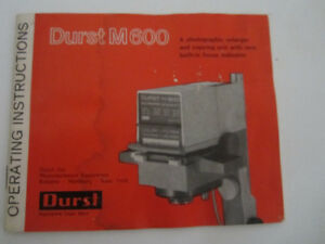 Durst M600 Photo Enlarger and Copier