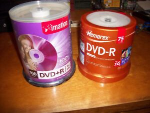 Brand New Still Sealed Blank Recordable DVD's