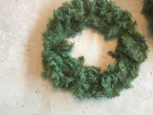 """For Sale: Set of Two 19"""" Outdoor Christmas Wreaths"""