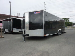 2017- 8.5 x 24 v-nose cargo/Car hauler trailer Used