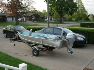 12 foot alum. boat & trailer for sale