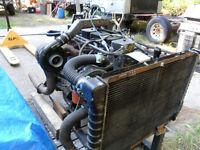 1989 Cummins turbo diesel motor running on stand