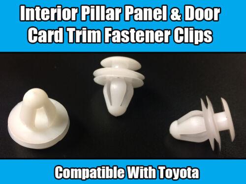 10x Clips For Toyota Yaris Avensis Previa Interior Pillar Panel & Door Card Trim
