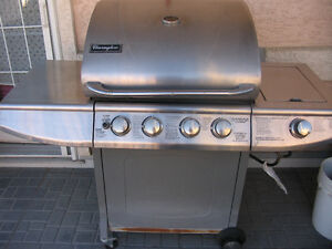 Charmglow Stainless Steel 4 burner gas grill with side burner