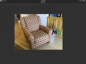Quality Accent Chair with matching throw Cushion
