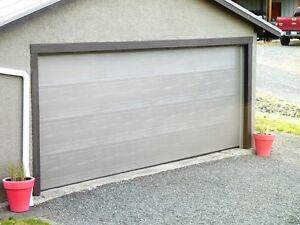 STEEL DOUBLE CAR GARAGE DOOR - NEARLY NEW