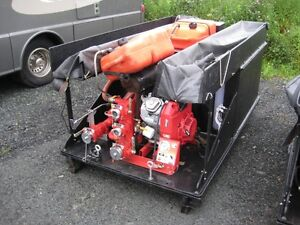 Skid-Mounted Water Pump with Tank