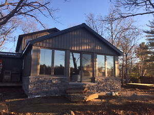Brand New 4 bedroom plus Bunkie Waterfront Cottage to Rent
