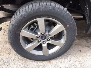 """F150 20"""" factory wheels and tires 1000km"""