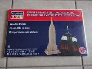 Wooden empire state building puzzle New with tags