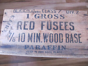 ** 1948 ** WOODEN FUSEES CRATE