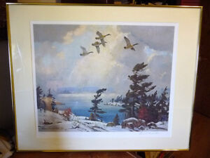 "Iconic Painting by Frank Panabaker ""Winter Storm"" 1957 Signed/Nu"