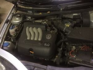 Volkswagen engine and 5 speed transmission