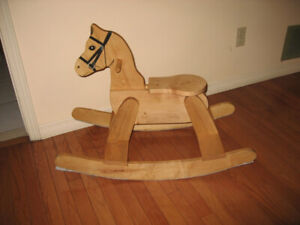 Wooden Rocking Horse and Rocking Chair for Toddlers