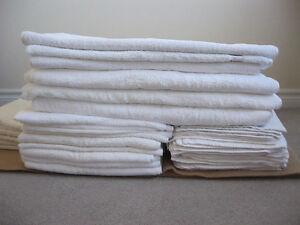 Hotel style white bath towel, face & hand towel, floor mats