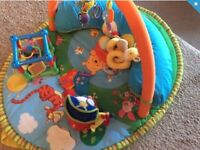 Tomy babies play mat, plus toys