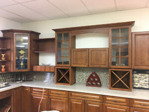 C-L-E-A-R-A-N-C-E solid wood kitchen cabinets!!