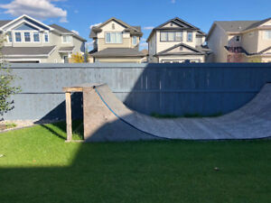 Scooter or skateboard Half pipe for sale