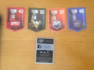 For Sale: Lot of 4 The Stanley Cup Collection Hockey Cards