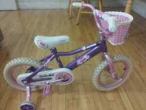 "Girl's Bicycle 14"" with Training Wheels"