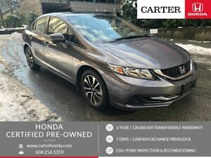 2015 Honda Civic EX + CERTIFIED + MANAGERS SPECIAL!