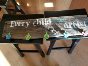 Every child is an artist homemade wooden sign
