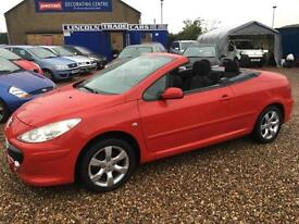 2006 PEUGEOT 307 1.6 S CONVERTABLE CC CAB PRIVATE PLATE LOW MILAGE 52K
