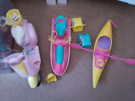 Barbie scooter/canoe/speedboat