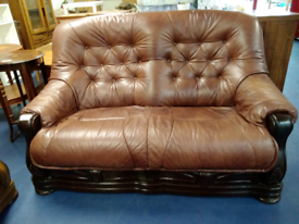 2 seat leather sofa tclri 49047