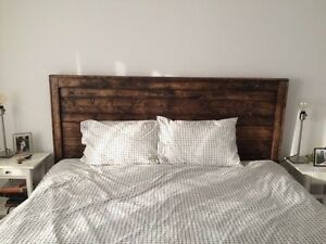 Reclaimed wood headboard $275 or best offer  Cambridge Kitchener Area image 1