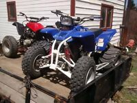 2 race quads 4 sale $2000 each. yamaha blaster 250cc and 650cc