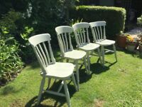 4 painted (F&B )Kitchen CHAIRS