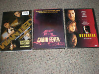 DVDS FOR COLLECTORS  $3. EACH.....