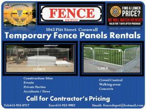 FENCE TEMPORARY