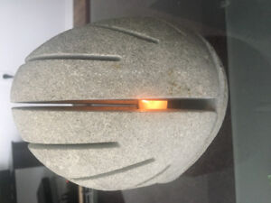 Carved Stone Tealight Lamp